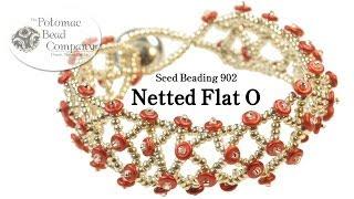 """getlinkyoutube.com-Make a """"Netted Flat O"""" Bracelet"""