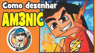 getlinkyoutube.com-Como desenhar Skin do AM3NIC - passo a passo