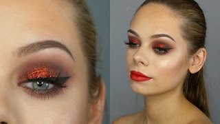 getlinkyoutube.com-RED CHRISTMAS GLAM Makeup Tutorial