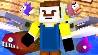 getlinkyoutube.com-Hello Neighbor - A NEW HOUSE?!? (Minecraft Hello Neighbor Roleplay) #3