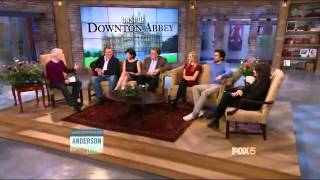 getlinkyoutube.com-Anderson Live: The Cast of Downton Abbey (Part 1/2)