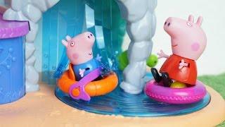 getlinkyoutube.com-Pig George e Família Peppa Pig vão ao Parque Tropical Novelinha da Peppa em Português