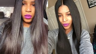 getlinkyoutube.com-Wowafrican Silk base Full lace wig 9 month Update
