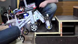 getlinkyoutube.com-Heriot-Watt EPS Mechanical Engineering, Stair climbing Robot Shrimp 2011