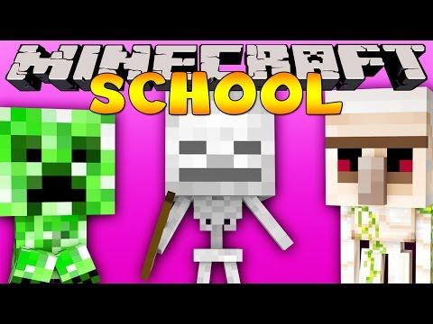 Minecraft School : BABY MONSTER CLASSMATES!