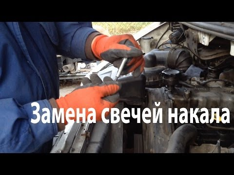 Замена свечей накаливания Hyundai H200 2.5TDi   How to Change Glow Plugs