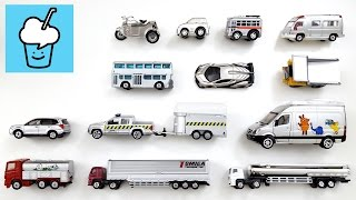 getlinkyoutube.com-Learning Silver Color for kids with street vehicles tomica トミカ siku