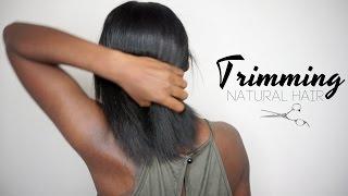 getlinkyoutube.com-How I Trim & Dust My Natural Hair!