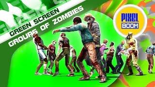 getlinkyoutube.com-Green Screen Two Groups of Zombies Cross - Footage PixelBoom