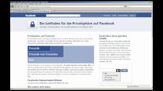 getlinkyoutube.com-Das Facebook-Privatsphären-Einmaleins / Facebook Privacy Tutorial