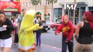 getlinkyoutube.com-Guile Theme Goes With Everything Spongebob Fights Two Women