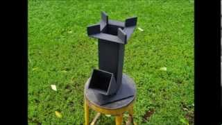 getlinkyoutube.com-Scrap Iron   Rocket Stove Test Burn
