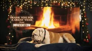 getlinkyoutube.com-Holiday Yule Log Bulldog Full HD Fireplace With Crackling Sounds