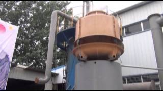 getlinkyoutube.com-Coconut shell gasifier furnace to produce syngas and coconut charcoal