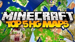 getlinkyoutube.com-TOP 5 MINECRAFT HUNGER GAMES MAPS! (Best Survival Games Maps)