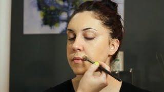 getlinkyoutube.com-How to Apply Makeup to Cover Facial Hair : Makeup Tricks