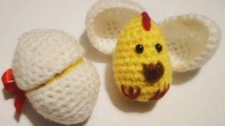 getlinkyoutube.com-Цыплёнок в скорлупе Часть 1 Вязание крючком Chick in shell Part 1 Crochet