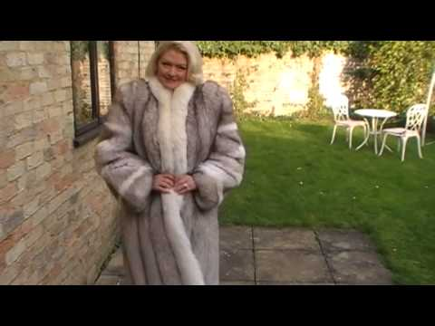 SAGA Blue Fox Fur Coat Full Length FUR LuxuryFurs4Less.com