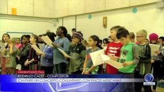 Rodrigo Cadet compositor cantare! un concierto comunitario con raíces mexicanas