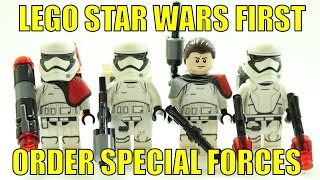LEGO STAR WARS THE FORCE AWAKENS FIRST ORDER SPECIAL FORCES MINIFIGURES