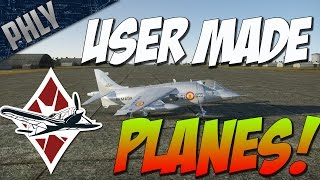 getlinkyoutube.com-War Thunder Gameplay -  EPIC USER MADE PLANES! HARRIER & J-21 SAAB!