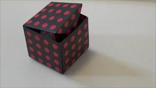 "getlinkyoutube.com-折り紙1枚でできる「ふた付きの箱」""The box with a lid"" made in one sheet of origami"