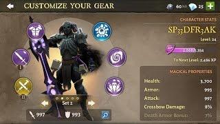 getlinkyoutube.com-Dungeon Hunter 5 - Gear Evolution - League Rank Warrior 1