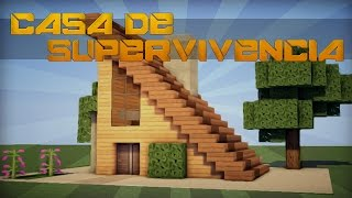 getlinkyoutube.com-MINECRAFT: CASA MODERNA 100% PARA SUPERVIVENCIA ||| TUTORIAL CASA!!
