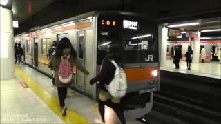 205系(京葉車) JR武蔵野線快速府中本町行!東京駅発車!
