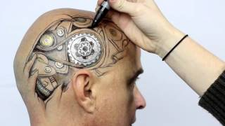 getlinkyoutube.com-Gearhead by Jody Steel - A Timelapse Drawing