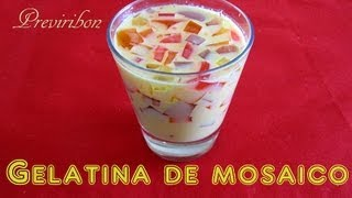 getlinkyoutube.com-Gelatina de Mosaico Facil y Rapido / Gelatin Mosaic easy and fast * video 143 *