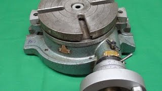 TIPS #201 mrpete Centering a Rotary Table on the Bridgeport Pt 1