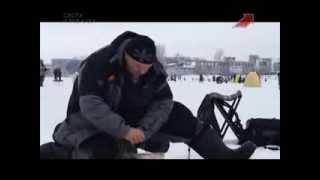 getlinkyoutube.com-Зимняя рыбалка на подледный фидр на реке