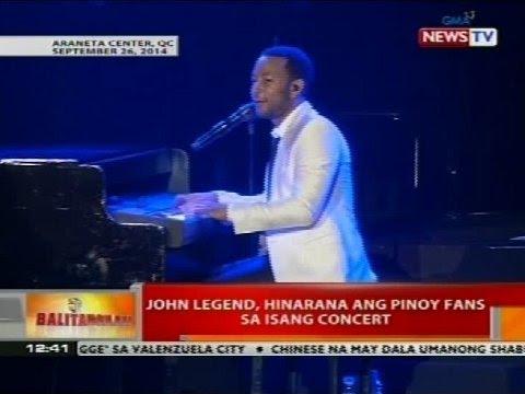 Balitanghali: John Legend, hinarana ang Pinoy fans sa isang concert