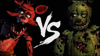 getlinkyoutube.com-SPRINGTRAP VS FOXY ( Fazbear Kombat )