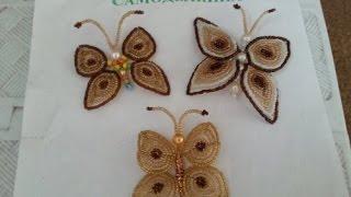 getlinkyoutube.com-Плетение бабочки из бисера