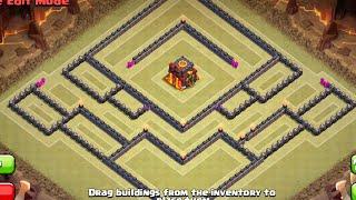 "getlinkyoutube.com-TH10 War Base ""Sinister"" (275 Walls - Post Update) - Clash Of Clans"