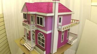 Cardboard Box made into Dollhouse with Lights - Time Lapse