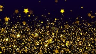 Shimmering Gold Stars Background Loop