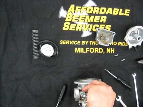 BMW Service - Bing carburetor cleaning-Assembly