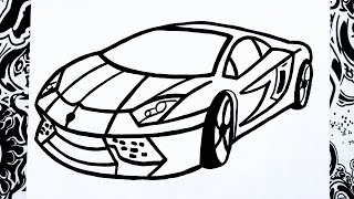 getlinkyoutube.com-Como dibujar un carro | how to draw a car