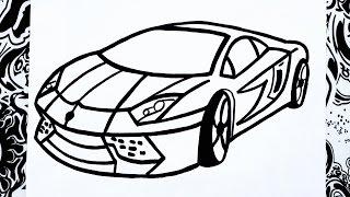 getlinkyoutube.com-Como dibujar un carro | how to draw a car