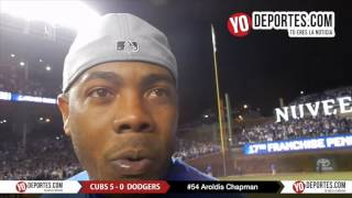Aroldis Chapman sin nervios para apagar a los Dodgers