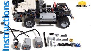 getlinkyoutube.com-LEGO Technic 42043 RC MOD Instructions - B model Mercedes-Benz Arocs 3245 by 뿡대디