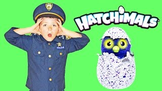getlinkyoutube.com-The Stolen HATCHIMALS with Officer Ryan and Smalls a Funny YouTube Toy HATCHIMAL Video