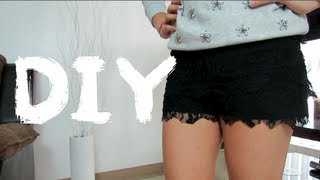 getlinkyoutube.com-DIY - SHORTS DE ENCAJE!