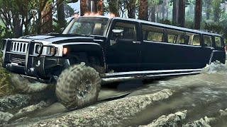 Limousine Hummer 4x4 - Spin Tires
