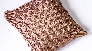 DIY Decorating ideas | Smocked Pillow Cover design | HandiWorks #109