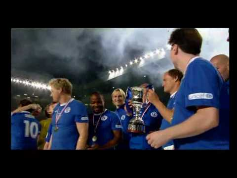Soccer Aid 2010 - The Rest Of The World team celebrations