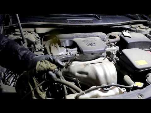 Toyota Camry XV50 Тойота Камри 2,5 2013 года Замена масла и фильтров